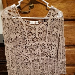 CatoCrocheted lace sweater